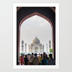 Entering the Taj Mahal Art Print