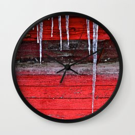 Chicken Coop Icicles Wall Clock