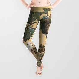 Paulownias and Chrysanthemums Leggings