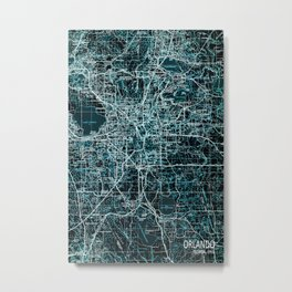 Orlando old map, 1955 Metal Print