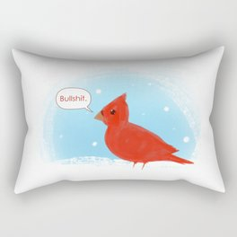 Winter Cardinal Rectangular Pillow