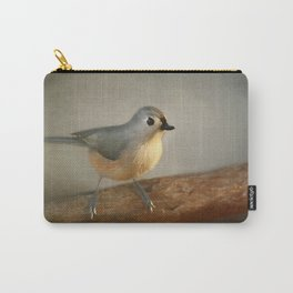 Winter Tufted Titmouse Carry-All Pouch