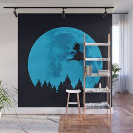 The Moon on Dragon Ball - Blue Wall Mural