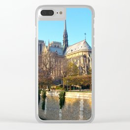 Cathedral of Notre Dame, Paris, France Clear iPhone Case