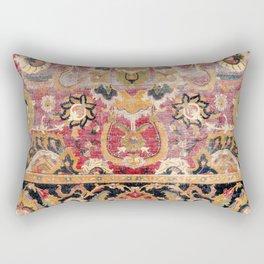 Esfahan Central Persian 17th Century Fragment Rectangular Pillow