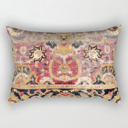Esfahan Central Persian 17th Century Fragment Print Rectangular Pillow