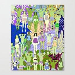 Solar Martian Green Suntan City Canvas Print