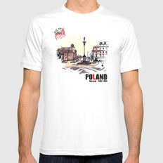 Poland, Warsaw 1890-1900 Mens Fitted Tee White MEDIUM