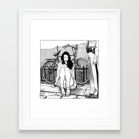 apollonia Framed Art Prints featuring asc 592 - L'amende honorable (A satisfactory apology) by From Apollonia with Love