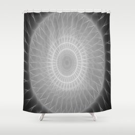 Gray Kaleidoscope Art 2 Highlighted Shower Curtain