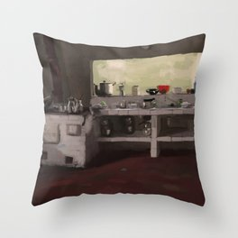 family kitchen Throw Pillow