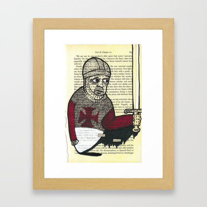 quixote pages by boethius (3) Framed Art Print