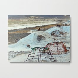 Crab Cages and The Cove Metal Print
