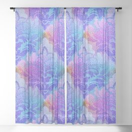 Damask Tapestry Pattern III Sheer Curtain