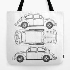 VW Beetle Blueprint Tote Bag