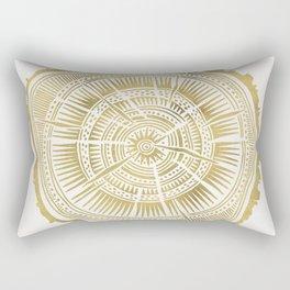 Paper Birch – Gold Tree Rings Rectangular Pillow