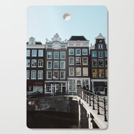 Amsterdam architecture | Travel photography | Buildings and the canals | The Netherlands | Art Print Cutting Board