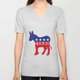 Texas Democrat Donkey Unisex V-Neck