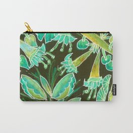 Irish Garden, Lime Green Flowers Dance in Joy Carry-All Pouch