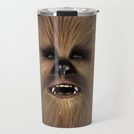 Chewbacca fan art digital portrait Travel Mug