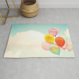 Dreamy Candy Colored Balloons Rug