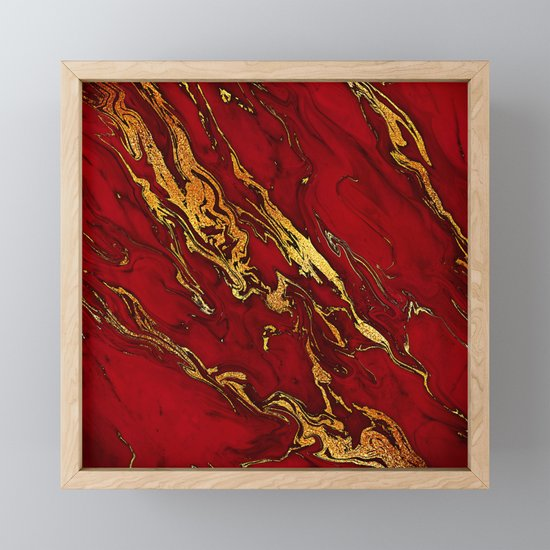 Chic Elegant Fire Red Ombre Glitter Marble by originalaufnahme