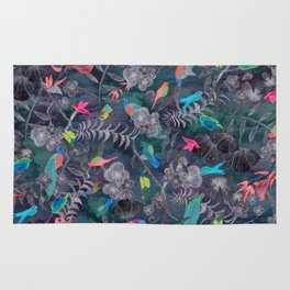 Birds and Flowers Color Pencil Rug