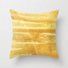 Sandy brown hand-drawn aquarelle Throw Pillow