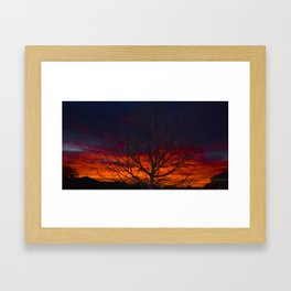 Suburban Sunset Framed Art Print