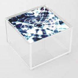 Tie Dye Sunburst Blue Acrylic Box