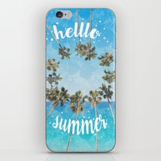 hello summer palm trees design 2 iPhone & iPod Skin