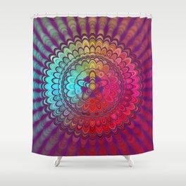 Mandala Flower Wheel Shower Curtain