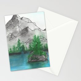 Geometric Mountain 2 Stationery Cards