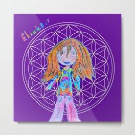 Elisavet | Flower of Life Metal Print