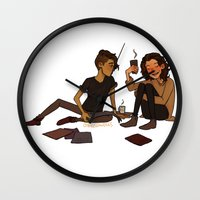 cargline Wall Clocks featuring Comics and Coffee by cargline