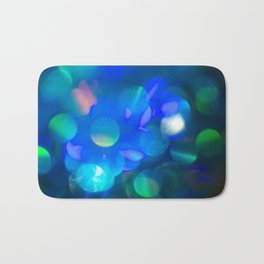 Bokeh in Blue Bath Mat