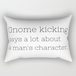 Gnome kicking - GG Collection Rectangular Pillow