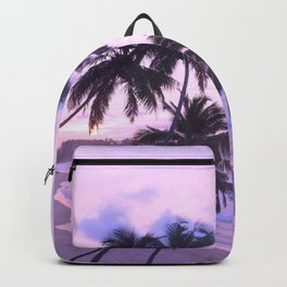 Pink Palms Backpack