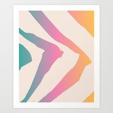 Sunset Guidelines Art Print