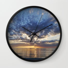 Sunset Over Clearwater Beach Wall Clock
