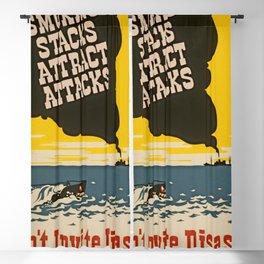 Vintage Naval Poster Blackout Curtain