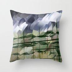 Moisty mist - analog zine Throw Pillow
