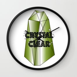 Crystal Clear– Green Wall Clock