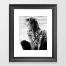 Harry Styles B&W Framed Art Print