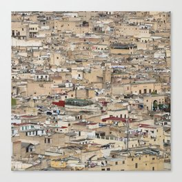 Skyline Roofs of Fes Marocco Canvas Print