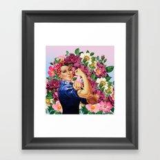 wir schaffen tas Framed Art Print