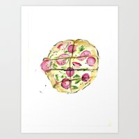 Pizza Pie Art Print