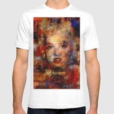 Once upon a time Marilyn White Mens Fitted Tee MEDIUM
