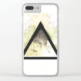 Abstract Watercolor Triangle Clear iPhone Case