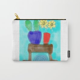 Cactus & Flowers Carry-All Pouch